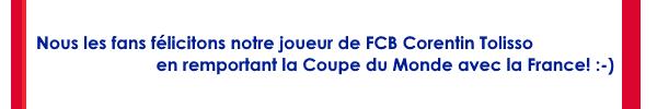 :) Glückwunsch zum WM-Titel an Corentin Tolisso und Frankreich!
