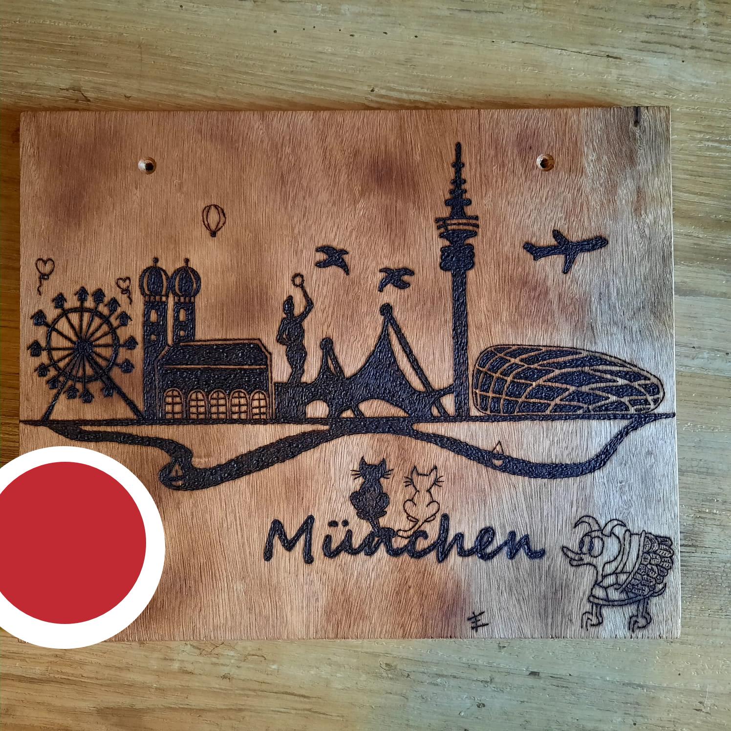 Die SKYLINE von München! Gebrannt von Esthi! <3
