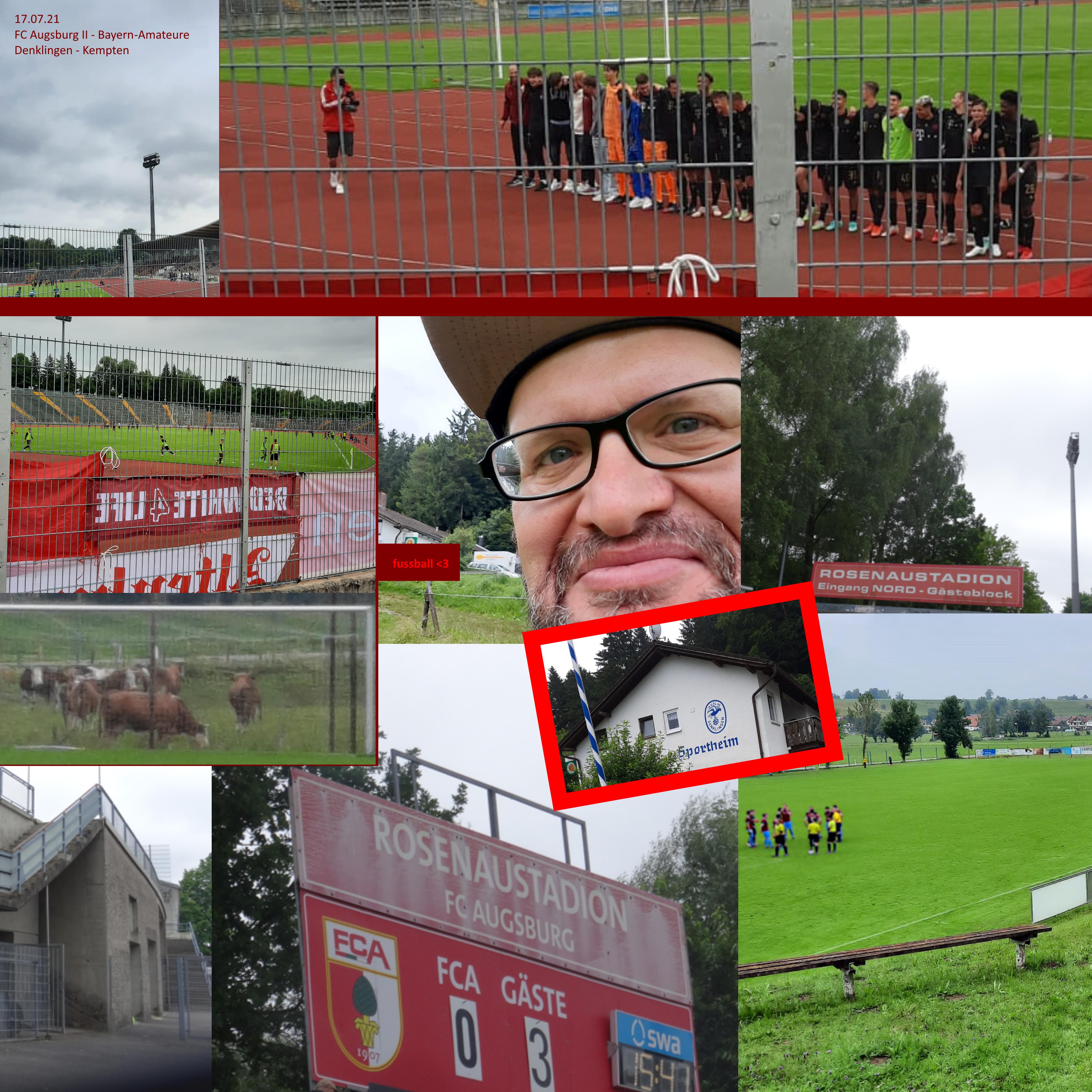17.07.201: FC Augsburg II - Bayern-Amateure + Denklingen - Kempten!